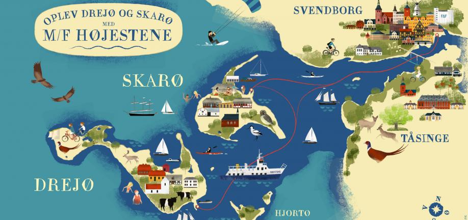 Ø-kort for færgen Højestene
